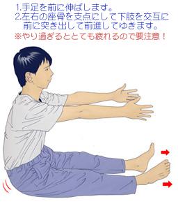 眼精疲労に効果的な骨盤歩き運動