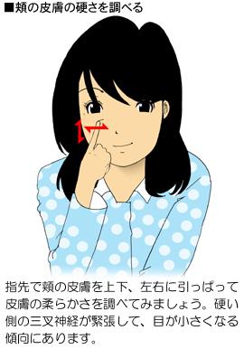 顔の皮膚の伸びの検査方法