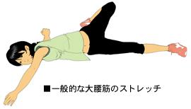 一般的な大腰筋のストレッチ